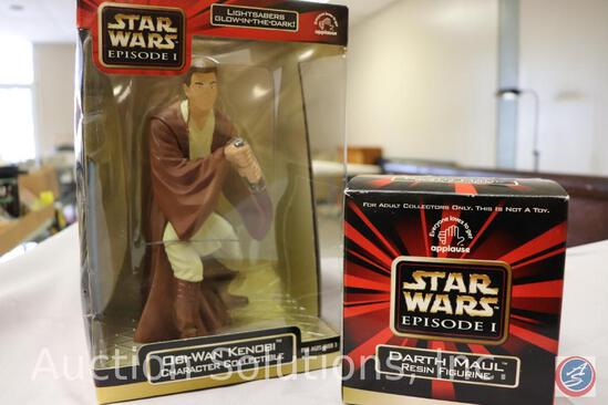 Obi-Wan Kenobi Character Collectible; and Limited Edition Numbered Darth Maul Resin Figurine