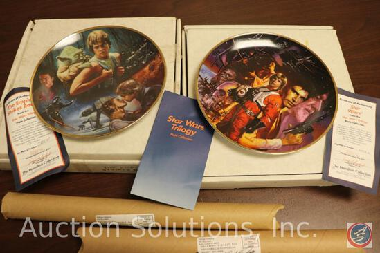 (2) Hamilton Collection Limited Edition Numbered Collector Plates w/ CoA (#0885E + #4045H); and (2)
