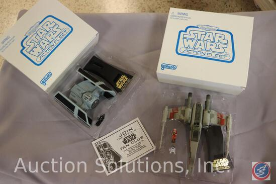 (2) Star Wars 'Mail Away' Micro Machines in Original Boxes: Darth Vader w/ his Tie Fighter (Missing