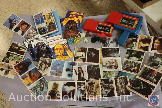 Vintage Kenner Movie Viewer + (2) Star Wars Video Cartridges; Box of Retro Greeting Cards; Mini
