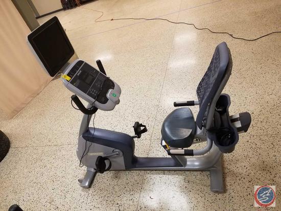 PRECOR Recumbent Bike (Model RBK 815) w/ 15'' LCD TV Precision Color Display Monitor