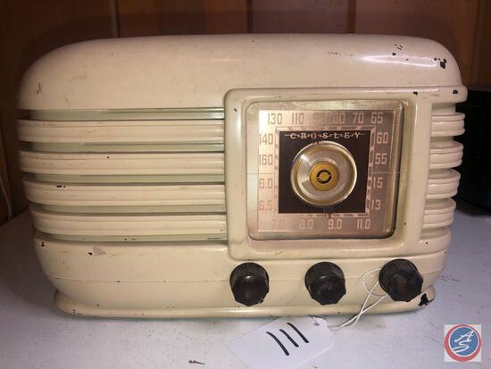 Vintage Crosley Portable Tube Radio Model No. 56TX