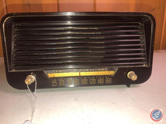 Vintage Philco Transitone Portable Tube Radio Model No. 51-530-121