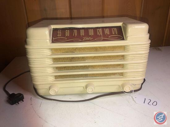 Vintage 1950's Delco Tube Radio Model No. R-1228