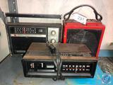 General Electric Clock Radio Model No. 7-4058, Sears Stereo 8 Track Player [[NO MODEL NO. VISIBLE]],