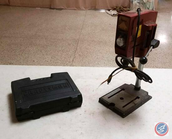 Craftsman 10.S Cordless Drill in Case w/ (2) Bits (NO Battery); Vintage Edison Electric Drill Press
