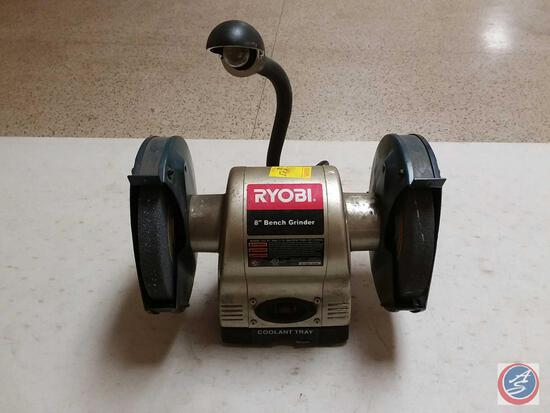 Ryobi 8'' Bench Grinder w/ Work Light Model BGH826