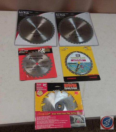 (5) {NEW} Circular Saw Blades - (2) 10'' and (3) 7 1/4''