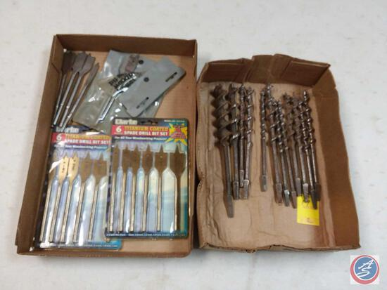 (11) {NEW} Clarke Spade Drill Bits; and (15+) MORE Various Drill Bits