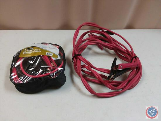 Auto Craft 4 Gauge 12' Heavy Duty Booster Cables, and Another Set of Jump Cables