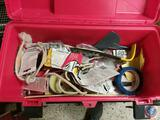 Plastic Tool Box w/ Contents