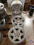 (4) 15 x 7'' Aluminum Wheel Rims Fits 1979-1992 Mercedes Benz 6240-6280 6300