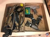 (2) Oil Filter Wrenches, (2) Hack Saws, Mini Grease Gun, Timing Light and Deltran Battery Tender