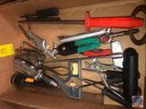 Mini Pliers, Flashlight, Combination Level, Air Chuck, F. Dick Cut Round Sharpener, Victor Tire