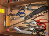 Assorted Shears, Scissors, Box Cutter, Drill Bit, Chicago Brand 1 1/4