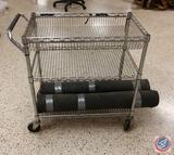 Three-Tier Wire Mesh Utility Cart 34 x 18 x 32''