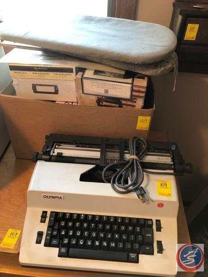 Olympia Typewriter Model No. Electric 45, Mini Table Top Ironing Board, Drawing Marked Pia Tor:
