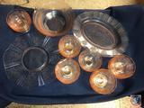 1930-1936 Vintage American Sweetheart Macbeth-Evans Pink Depression Glassware Including (2) Serving