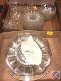 1938-1942 Vintage Federal Glass Columbia Clear Depression Glassware Including (8) Cups, (12) 6