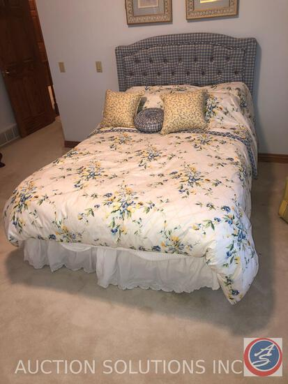 Full Sized Bed Complete with Mattress, Box Spring, Frame and Head Board