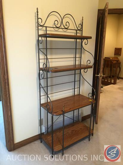 "Four Tier Baker's Rack Measuring 30"" X 15"" X 72 1/2"""