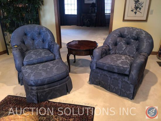 "{{3X$BID}} (2) Century Furniture Upholstered Arm Chairs Measuring 36"" Tall and Century Furniture"