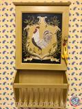 Framed Painting of Rabbit, Chicken Wall Hanging Key Cabinet, First Time Manufactory Clock, Framed
