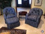{{3X$BID}} (2) Century Furniture Upholstered Arm Chairs Measuring 36