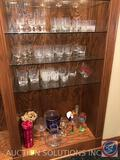 (4) Crystal Floral Champagne Flutes, (5) Clear Crystal Wine Glasses, (2) Snowflake Wine Glasses, (2)