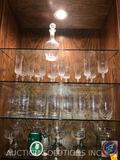 Assorted Margarita Glasses, Tumblers, Footed Tumblers, Crystal Wine Glasses and Champagne Flutes,