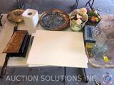 Antique Heating Pan, World Market Ceramic Nut Tray, 16