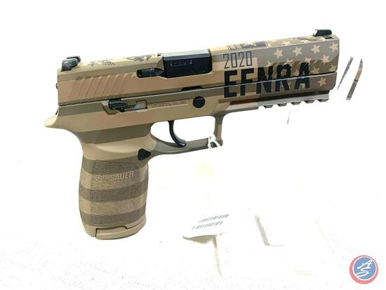 SIG P-320 EFNRA 2020 ARMED FORCES TRIBUTE 9MM Caliber. 9 x 19 Barrel Length. 4.7 Inch Capacity 21
