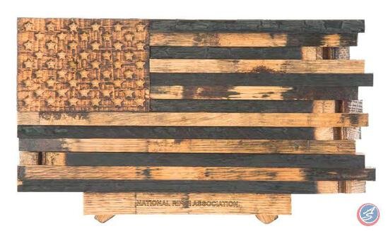 Barrel Wood American Flag Designed to honor our country?s history, display this piece of patriotism