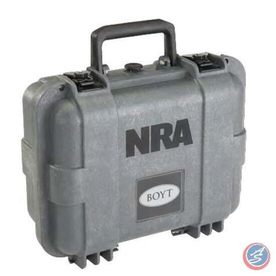 Pistol Case with NRA Logo This tough H-Series case from Boyt Harness Company is purpose-built for
