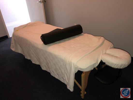 Sierra Comfort Folding Manual Adjustment Massage Table with Bolster and Arm Rest Including Electric
