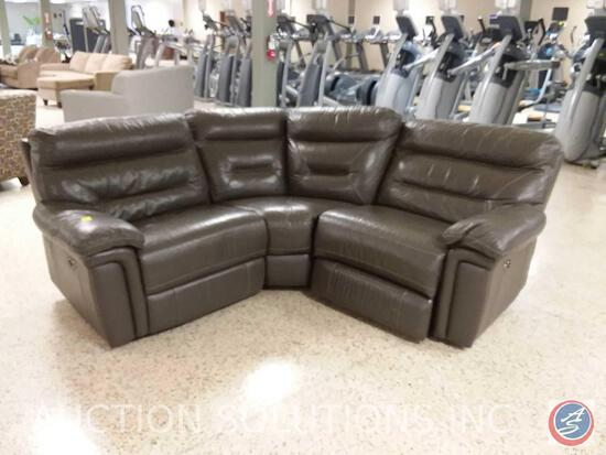 Faux Leather 3-Seat Electric Reclining Sofa (Recliner Motors DO NOT WORK)