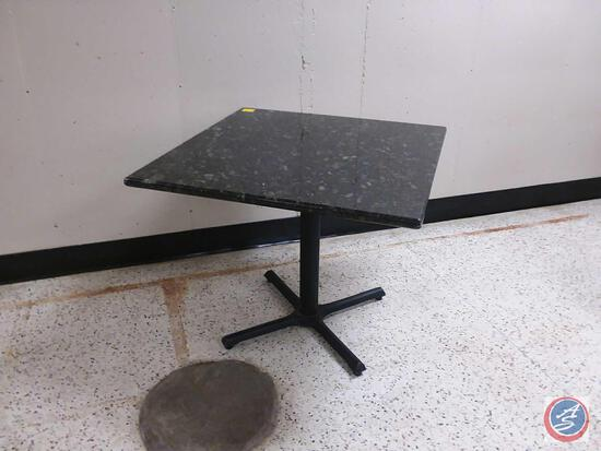 "Artificial Granite Top Restaurant Table 36"" x 36"" x 30"""