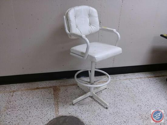 White Stool Bucket Chair