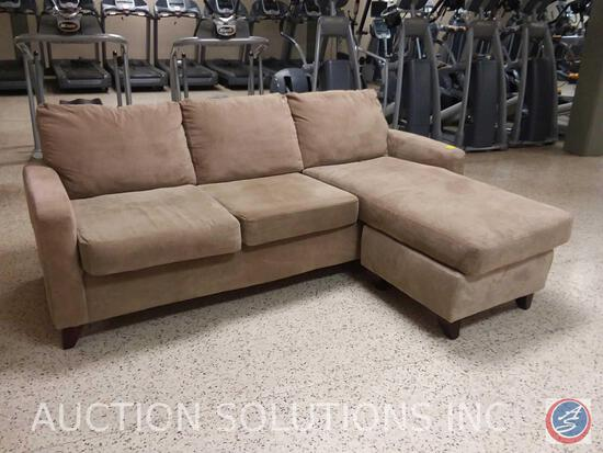 "3 cushion Chaise Lounge Sofa, 91"" x 67"" x 36"""
