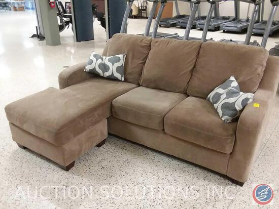"3 cushion Chaise Lounge Sofa, 79"" x 62"" x 36"""