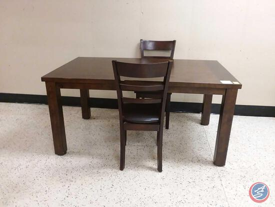 "Dining Table with (2) Chairs Measuring 64"" x 38"" x 31"""