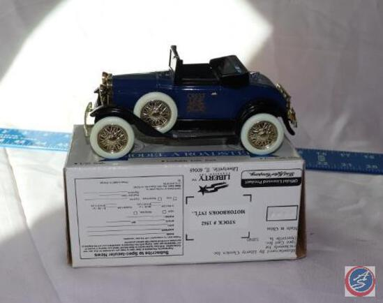 Limited Edition Model A Roadster Die Cast Model Lockable Coin Bank Scale 1/25 Stock No. 1562 in