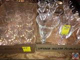 (3) Candlewick Water Goblets, (6) Fluted Floral Etched Design Wine Goblets, (5) Candlewick Juice