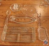 1936-1984 Candlewick by Imperial Glass-Ohio Glassware Including Individual Creamer/Sugar Tray,