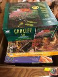 Milton Bradley Croxley 500 Piece Puzzle, Milton Bradley Tranquility 1000 Piece Jigsaw Puzzle, Milton