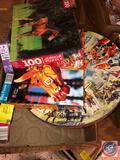 Milton Bradley 100 Piece Junior Puzzle of Horses, Golden Books 500 Piece Carousel Puzzle, 54 Piece