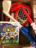 We Love Golf Wii Game with Golf Club Accessories