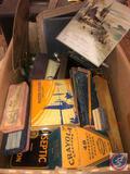 Vintage Crayola Crayons in Original Box, Assorted Dustless Crayon Boxes, Brilliant Water Colors Tin