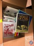 Books Including Titles Such As The Cars Of Oldsmobile, The Ultimate Classic Car Book, Assorted