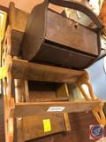 Vintage Sewing Box, Wood Floating Shelves, Vintage Wooden Mandolin Slicer and More